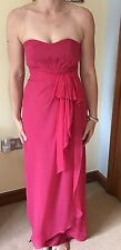 Ladies Coast Full Length Pink Strapless Dress Size 6 - VGC Worn Once!