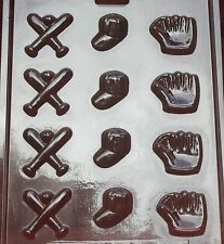 BASEBALL ASSORTED BITES CHOCOLATE CANDY MOLD DIY SPORTS EVENTS CUPCAKE TOPPERS