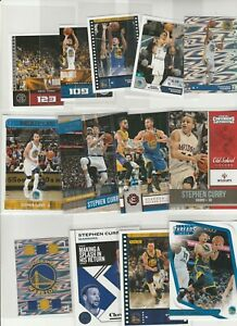 STEPHEN CURRY LOT (13) DIFFERENT W/ CONTENDERS INSERT HOLOFOIL STICKERS PUZZLE