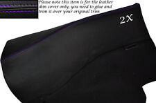 PURPLE STITCH 2X REAR DOOR CARDS LEATHER SKIN COVERS FITS NISSAN 300ZX Z32 90-96