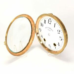 Seth Thomas Porcelain Clock Dial with Bezel and Convex Glass - KS792