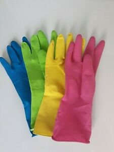 Rubber Household Latex Gloves All Sizes S M L XL Cleaning Kitchen Bathroom