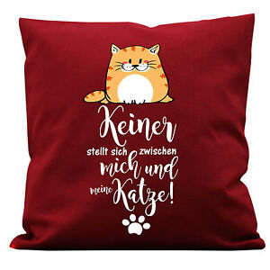 Kissen Katzenmotiv Dekokissen Motiv Prinzessin Katze Deko Geschenk lustig 40x40