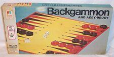 VINTAGE BACKGAMMON & ACEY-DEUCY #4319 MB - 100% COMPLETE - 1973 - NIB COND