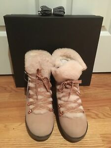 J Crew NWT Women's Nordic Wedge Boots Subtle Pink  size 9   #K2901  $208