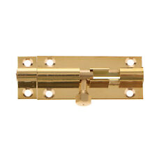 2'' Brass Door Slide Catch Lock Bolt Barrel Room Gate Security Hardware
