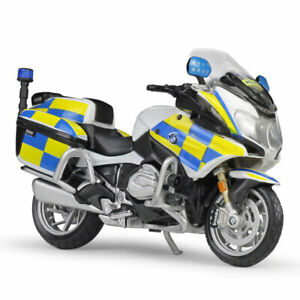 1:18 Scale BMW R1200 RT Motorcycle Diecast UK Police Bike Model Toy Kids Gift