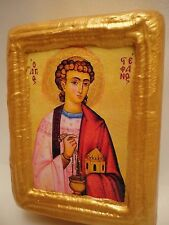 Saint Stephen Old World Byzantine Greek Orthodox Religious Icon Art on Wood