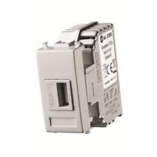 PRESA USB  da incasso per serie civili 5V 1,2A 1 modulo con aggancio Keystone