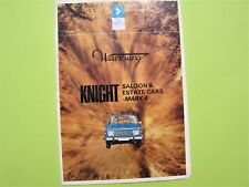 WARTBURG MK4 BROCHURE - KNIGHT SALOON - TOURIST ESTATE - WARTBURG 353 1970s
