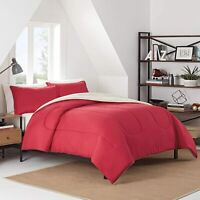 IZOD Solid Comforter Set, Twin/Twin XL, Red