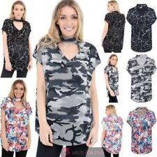 Maglie e camicie da donna viscosi floreali senza marca