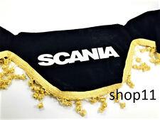Scania Gardinen Frontscheibe Verzierung Scheibenborde Vorhänge schwarz Gold