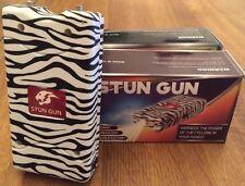 Cheetah Stun Gun 10 Mil Volts with Led Light & Rechargeable - Zebra Stripes