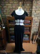 LIPSY CLOTHING UK Size 8-10 Black Stretchy Cutaway Middle Strappy Maxi Dress