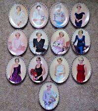 13 Princess Diana collector plates Queen of Our Hearts Bradford Exchange w/COAs