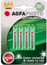 AgfaPhotoPilas Recargables Instant Energy AAA/HR03 NiMH 900mAh 1.2 V  - 4 unid.