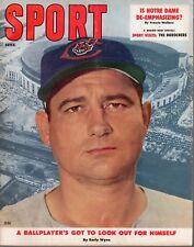 1957 (Feb.) Sport Magazine, Baseball,  Early Wynn, Cleveland Indians ~ Good