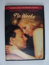 9 1/2 Weeks Uncut Uncensored Version DVD