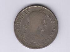 Great Britain:½ Crown,1663 * King Charles II * SILVER * RARE *