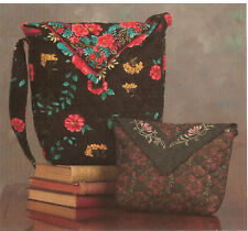 Stylish New Purse Pattern  Uses Pre Quilted Fabric with Borders     2 Sizes