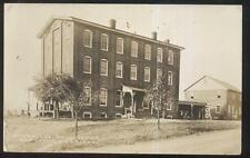 1907 RP POSTCARD VERNFIELD PA/PENNSYLVANIA POST OFFICE & CLOTHING FACTORY