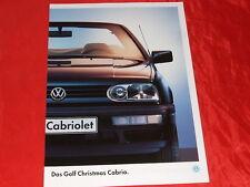 """VW Golf III Cabriolet """"Christmas Cabrio"""" Sondermodell Prospekt von 1994"""