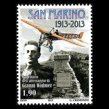 San Marino 2013 - Gianni Widmer Landing Airplane Aviation - Sc 1880 MNH