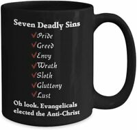 7 Deadly Sins Mug Anti-trump Mug Resist Mug Anti Trump Coffee Cup Std - Stop Mug