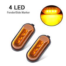 2X4LED Amber Lens Amber Light Side Marker Turn Signal Fender Lights for Honda