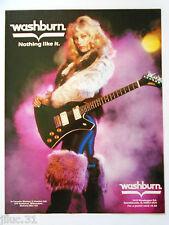 """Plakat WASHBURN Gitarre """"Nothing like it"""""""