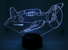 F4 Corsair RC Airplane Warbirds 3D Acrylic Light with Extras