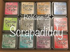 RELEASE 2- Ranger Tim Holtz DISTRESS OXIDE Ink Pads- ALL 12 Colors- IN STOCK