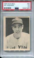 1939 Play Ball Baseball #26 Joe Dimaggio Rookie Card RC Graded PSA 1.5 Yankees