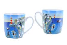 Jan Pashley Mug Puffin Cove Design Mug Bird Puffin Coastal Lighthouse Seaside