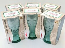 More details for mcdonalds coca cola coke logo glasses  set of 6 new boxed 125 years 2011