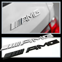 1 Pcs Silver AMG Alloy Emblems Badge Chrome Rear Boots Sticker Fits All Type S59