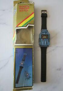 vintage (1980s) transforming quartz Fighter watch with original box