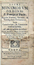 1637 SAN FRANCESCO DI PAOLA, SACRI MINIMORUM ORDINIS REGULAE – ORDINE DEI MINIMI