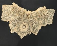 Antique Victorian Edwardian Lace Collar Stunning Finely Embroidered
