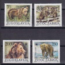 Jugoslawien 1988 postfrisch MiNr. 2260-2263  Weltweiter Naturschutz Braunbär