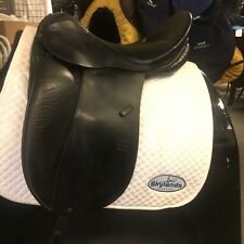 Used Stubben Genesis Spezial with Biomex Dressage Saddle Size 18'' Black