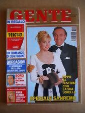 GENTE n°10 1993 Lorella Cuccarini Mara Venier Alberto Sordi  [G585]