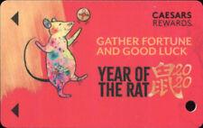 Caesars Rewards Harrahs Casino Las Vegas Year of the Rat Slot Card BLANK No Name