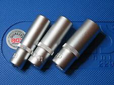 "BGS TOOLS DEEP SOCKETS 13 14 & 15mm  CHROME VANADIUM  3/8"" S D  TOP QUALITY"