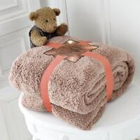 NEW LUXURY TEDDY BEAR THROW SUPER SOFT FLEECE BLANKET THROW SOFA BED COUCH