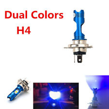 12V H4 COB  LED Bulb Light For Motorcycle Headlight Dual Colors 8w Hi /Low beam