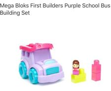 Fisher Price Mega Bloks School Bus New With Tags 6 Piece Baby Kids Toys