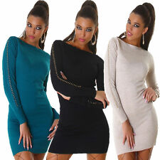 Damenkleider mit U-Ausschnitt ohne Muster