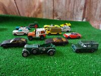 Retro  lot of collectable mini diecast cars Matchbox, lesney,corgi x14 (D31)